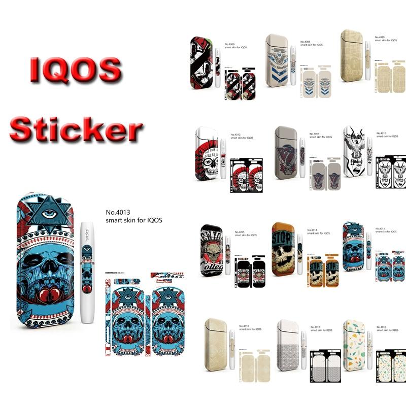 3 m Impression Étiquette pour IQOS 2.4 IQOS 2.4 Plus Anti-rayures Autocollant Cas Manches Anti-Poussière Cigarette Électronique PVC Matériel Peau