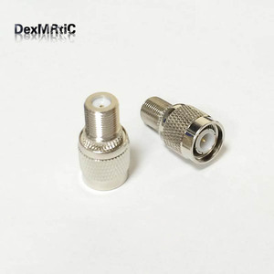 Штепсельная Вилка TNC для разъема F Female, переходник с разъемом RF Coax, прямой никелированный, оптовая продажа, 1 шт.