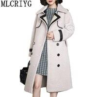 AYUNSUE осень зима 2018 г. Новые женские шерстяные пальто двойной Breaste Длинные куртки женские пальто манто роковой шубы GJ257