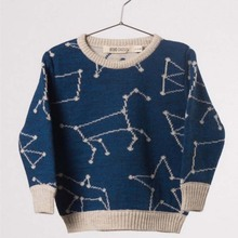 Baby Girls Boys Constellation Print Sweaters Toddler Fashion Cardigan for Kids Boys Winter Children Cardigans for Girls MB031