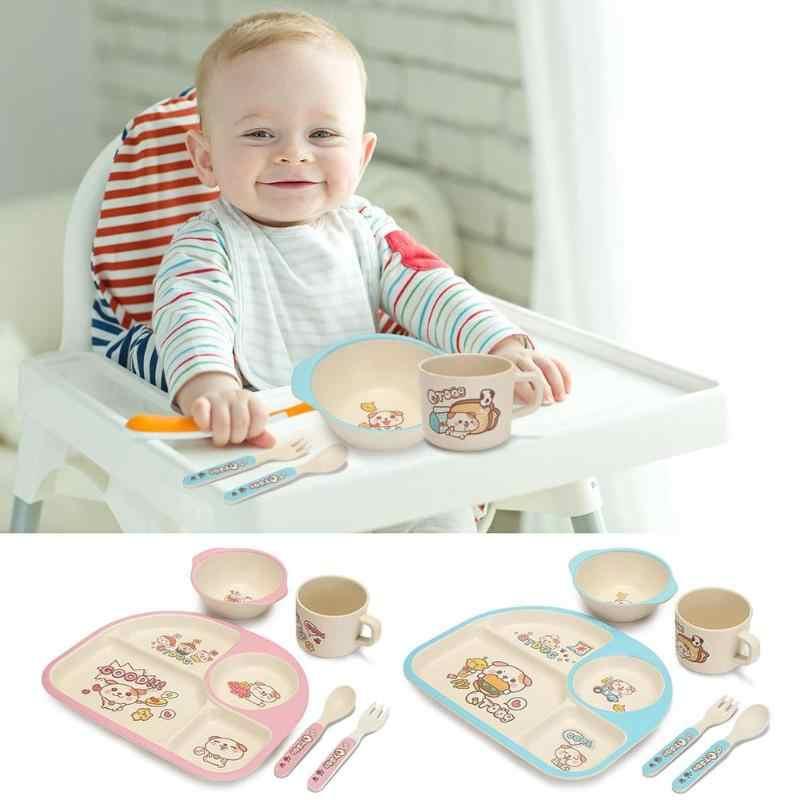 Baby Geschirr Anti-Skid Und Anti-Tragen Niedliche Baby Platte Teller Tasse Schüssel Geschirr Set Kinder Ausbildung Geschirr über 2 jahre Alt