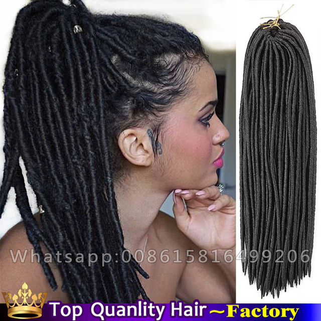 18inch Synthetic Mambo Faux Locs Hair Extensions Dreadlocks Wrapped