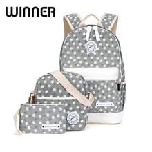 Gewinner Leinwand Blumendruck Rucksack Frauen Schultaschen für Mädchen Im Teenageralter Frische Rucksack Laptop Rucksäcke Weibliche Bagpack