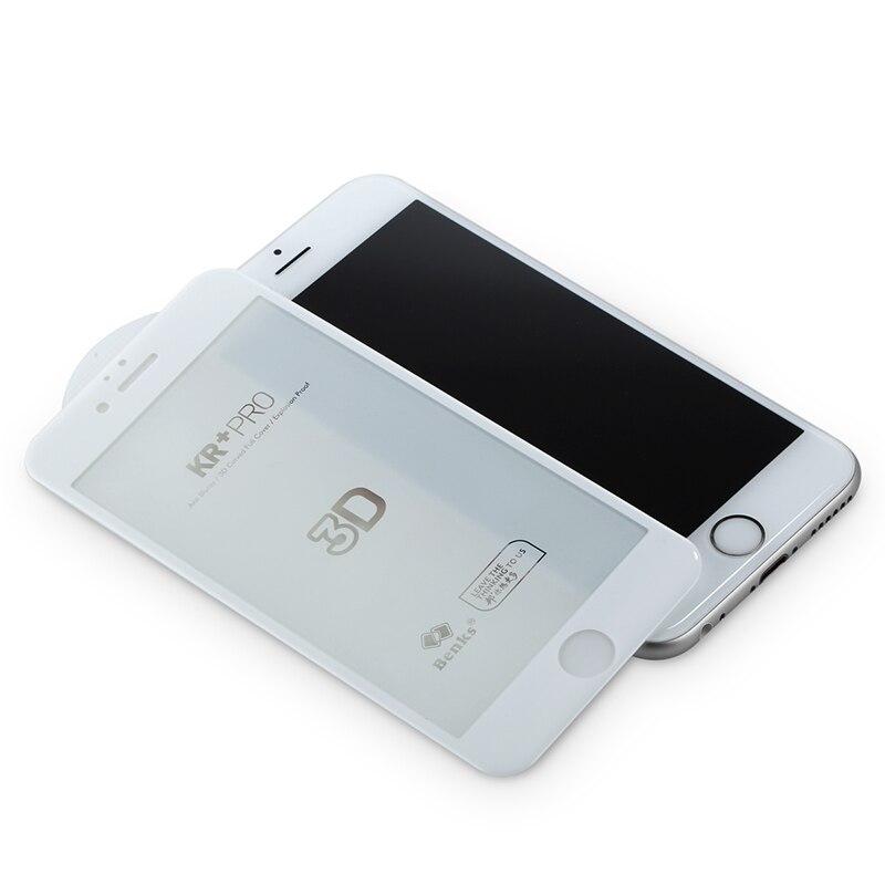 <font><b>Benks</b></font> 3D <font><b>Curved</b></font> <font><b>Tempered</b></font> <font><b>Glass</b></font> <font><b>Screen</b></font> <font><b>Protector</b></font> for iPhone 6 6s 6Plus 6sPlus Phone Celular Full Cover Protection Film Black