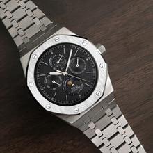 Automatic Watch Men Mechanical Watch Top Luxury Brand Male Moon Phase Diving Calendar Wristwatch Waterproof