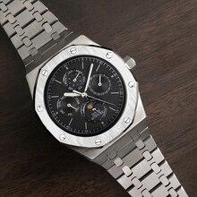 Automatische Horloge Mannen Mechanisch Horloge Top Luxe Merk Man Moon Phase Duiken Kalender Horloge Waterdicht