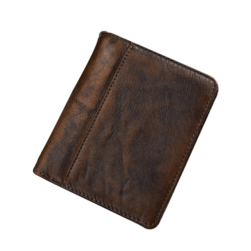 2018 Retro Man wallets and purses genuine leather zipper coin purse