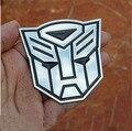 2 unids Transformers Metal Etiqueta Decoración del coche 3D Logo Aleación De Zinc Bo Envió Decepticon Emblem Badge Decal Truck Car Styling