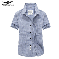 2018 New Brand Men Short Sleeve Shirt Summer Leisure Oxford Pure Color Shirt For Youth Large