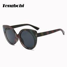 aaa601ed40abb 2018 Moda Rainbow Stripes CY204 UV400 Tons Cateye Óculos De Sol Dos Homens  Das Mulheres óculos de Marca Do Vintage
