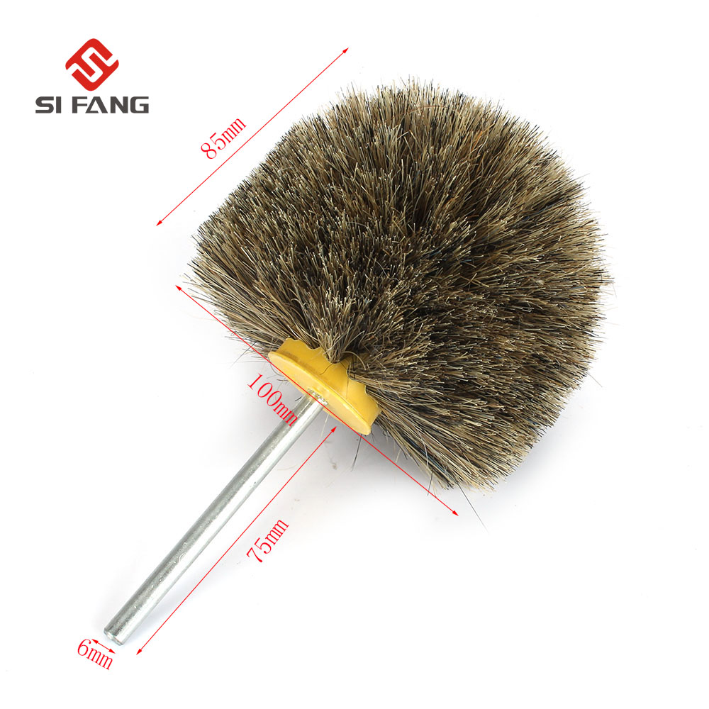 Deburring Horsehair Electric Cleaning Brush Head Polishing Grinding Buffing Mushroom Wheel Shank