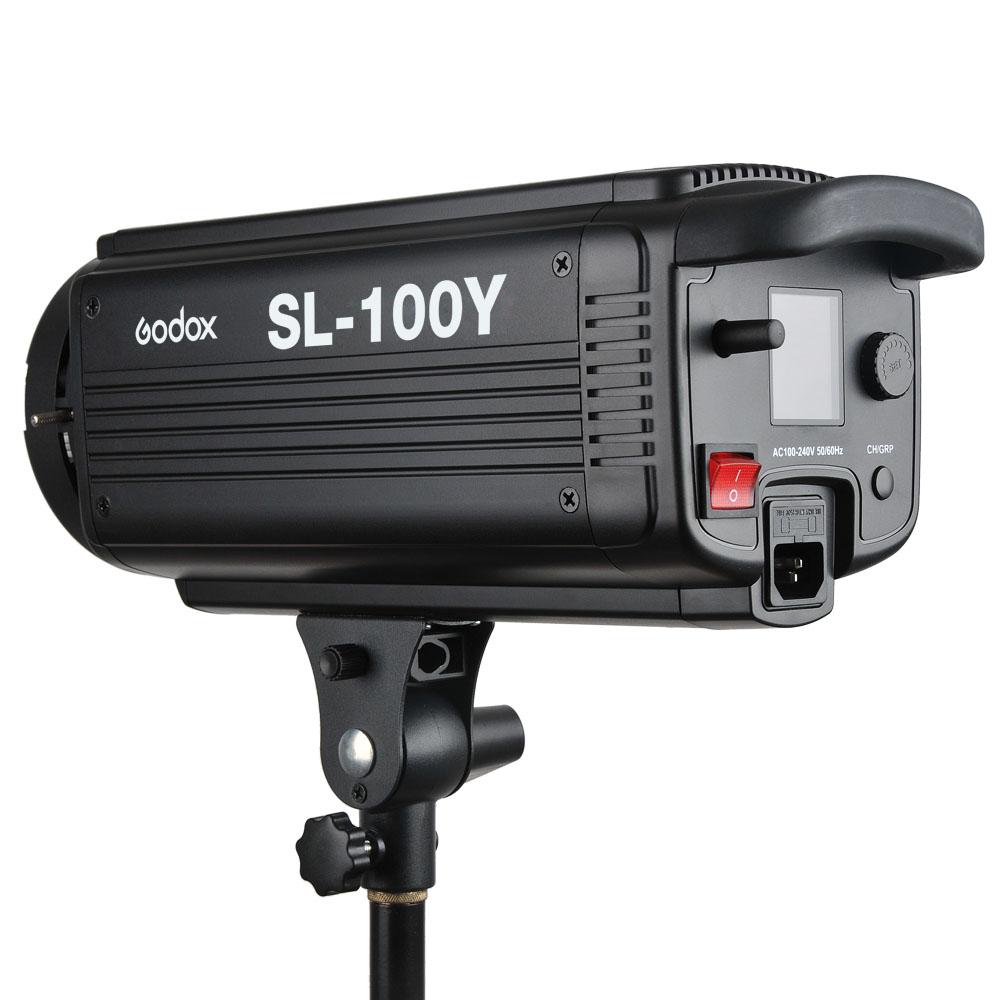 Godox SL-100Y 2400LUX Studio LED Continuous Video Light Yellow Version 3300K Bowens Mount (8)