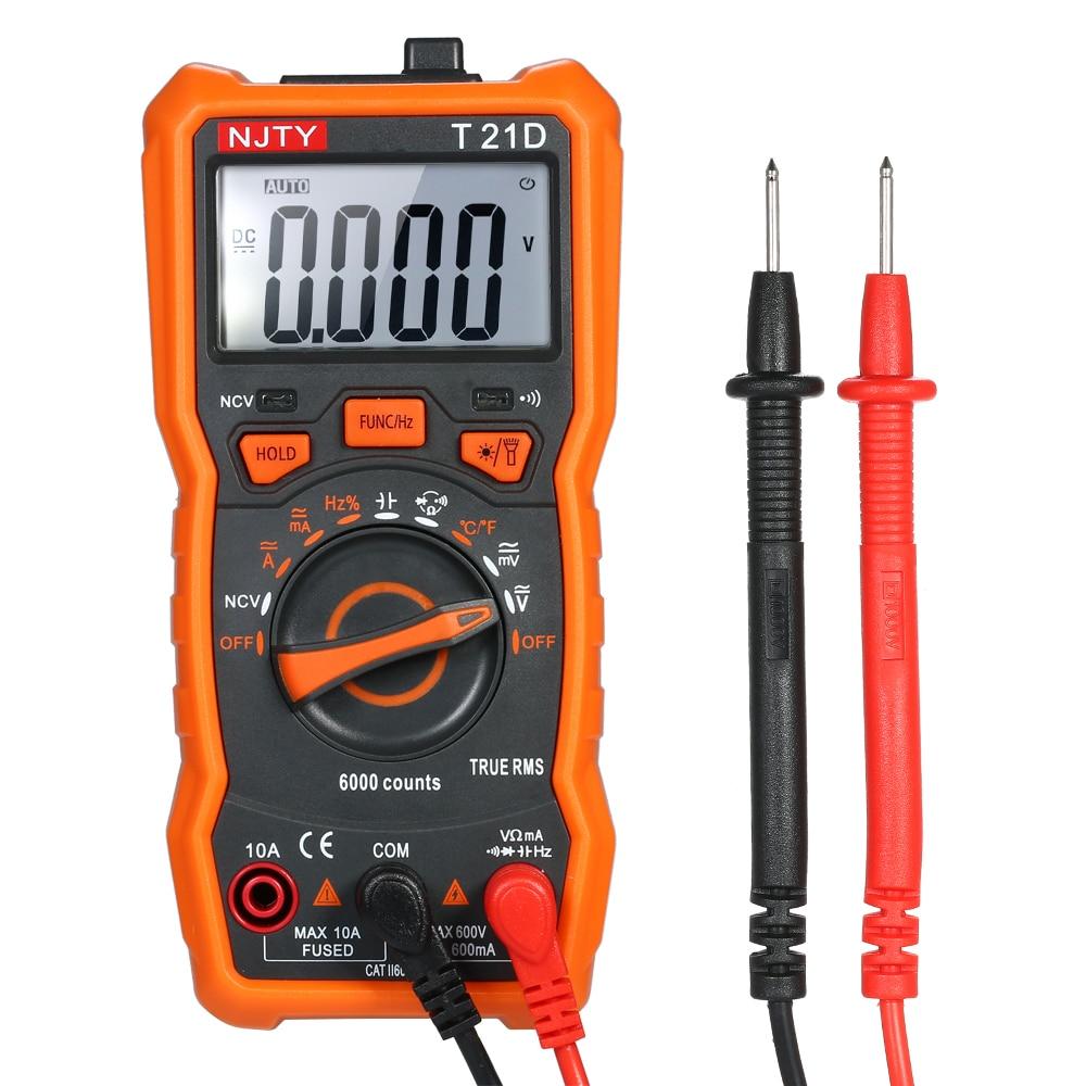 avec Un Tournevis pour Courant R/ésistance Diode Mini Multim/ètre Num/érique,LCD Mini Auto Range AC//DC Multimetre Numerique de Poche Testeur Compteur,Tension AC//DC