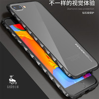 Original Brand LUPHIE Luxury Aluminum Metal Bumper For Apple Iphone 8 8plus Cases Diamond Shape Frame