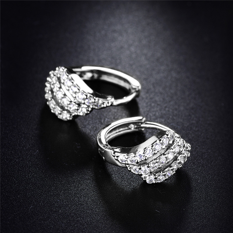BUDONG Valentine's Day Gift Three Row Fashion Earing for Women - Fashion Jewelry - Photo 3