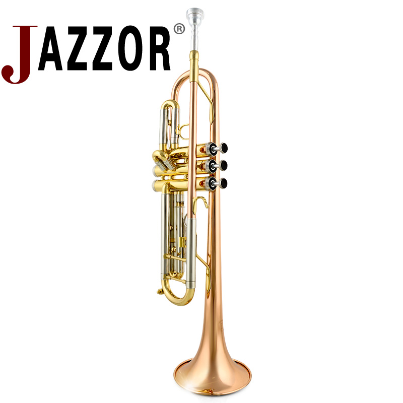Professional JINYIN JYTR-M300G Trumpet Gold lacquer B Flat Bb Trumpet with mouthpiece & Hard case high quality wind instruments Углеродное волокно