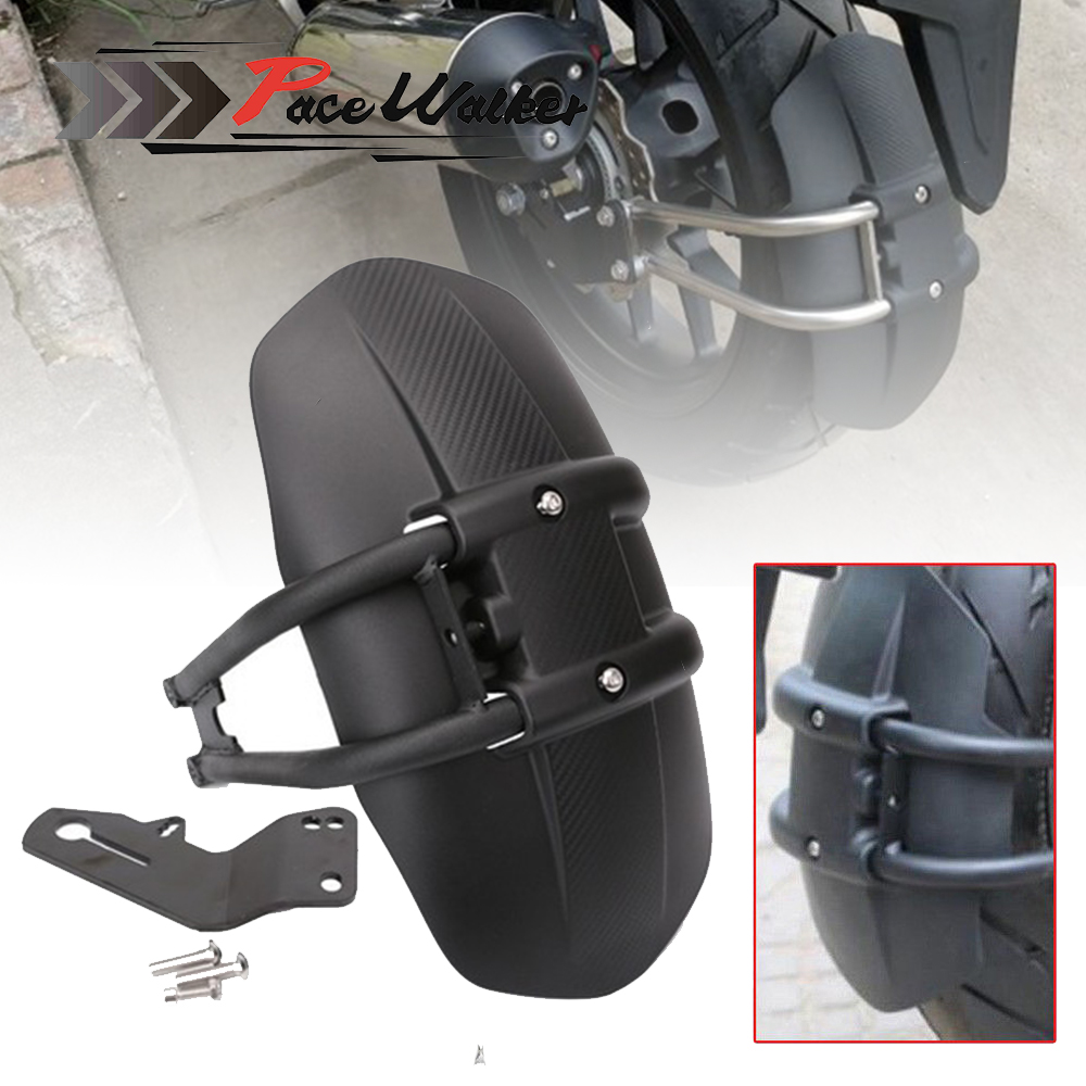PACEWALKER Black Motorcycle Rear Fender Bracket Motorbike Mudguard For Honda NC700 NC750X NC750D CB1300 CB400  Accessories