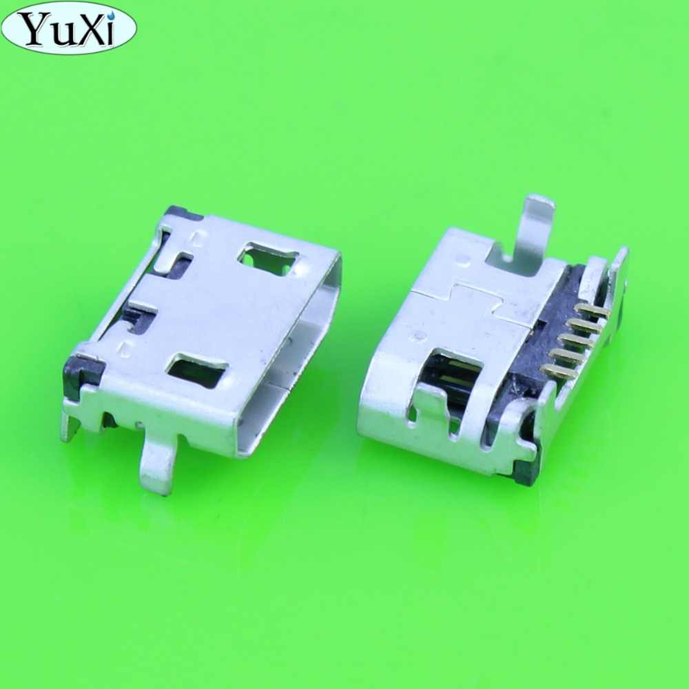 YuXi Micro 5pin USB Jack Charger Connector Voor Lenovo A10-70 A7600H A7600 A3000 A3000H A3000-H A370 S930 A788T A656 etc tablet