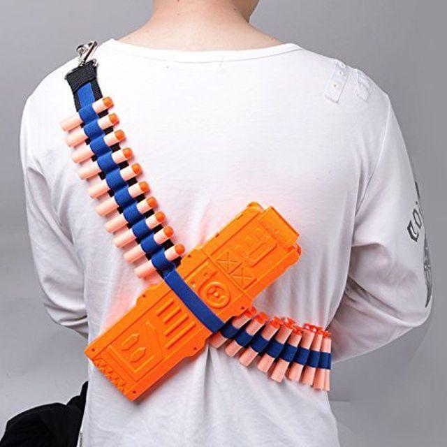 Bandolier Toy Gun Soft Bullets Belt Shoulder Strap Clip Charger Darts Ammo Storage For Nerf N-strike Blasters Cartridge Holder