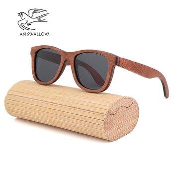 Marron Skateboard bois lunettes de soleil femmes rétro lunettes de soleil hommes marque de luxe polarisé Vintage lunettes en boi фото