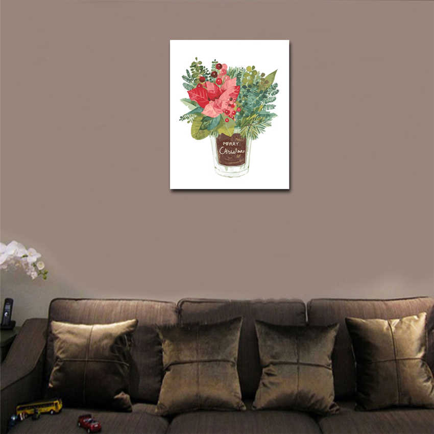 RIHE Elegant Flower Painting By Numbers Rose Vase Oil Painting On Canvas Hand Painted Cuadros Decoracion Acrylic Paint Home Art in Painting Calligraphy from Home Garden
