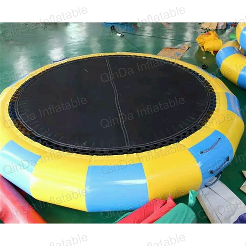 Best PVC inflatable water trampoline, inflatable sea trampoline, inflatable aquatic trampoline for sale commercial sea inflatable blue water slide with pool and arch for kids