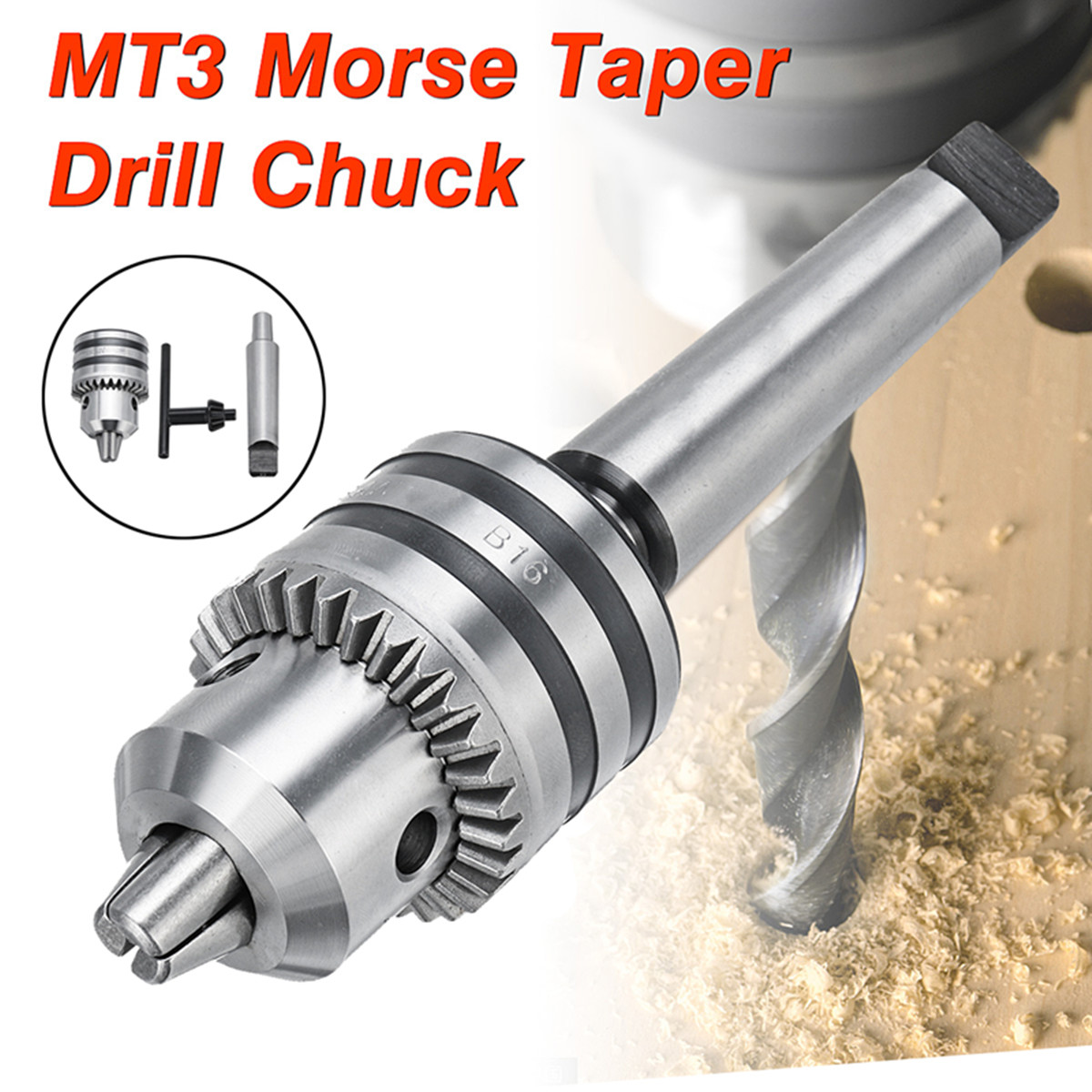 1-13mm Heavy Duty Drill Chuck with MT3 Morse Taper Arbor MT3 For Mini Lathe Rotary Hammer Hand Tool hight quality morse taper shank drill chucks set cnc lathe drill chuck 5 to 20mm b22 with no 3 morse taper mt3 with key
