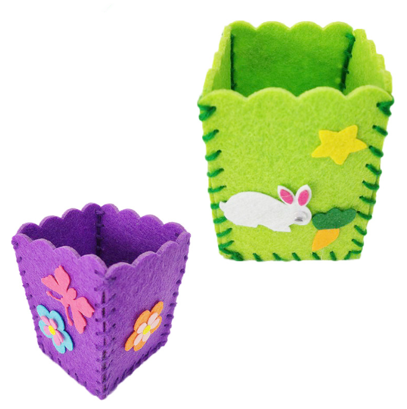 Baby Kids Educational Diy Craft Tangram Block Kit Cute Creative Handmade Pen Container Diy Pencil Holder Kids Craft Toy Kits #4