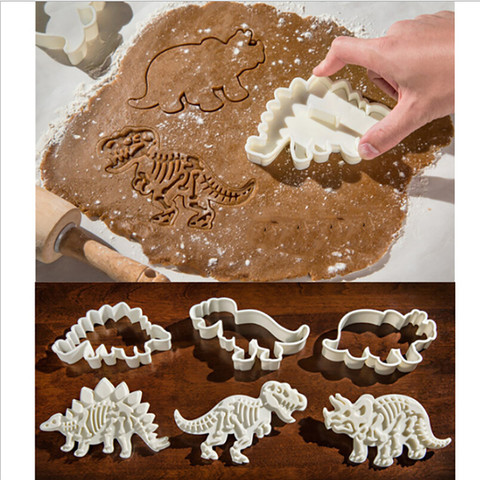 Dropshipping Dinosaur Shape Cookie Cutter Mold Biscuit 3D  Baking Mold Pakistan