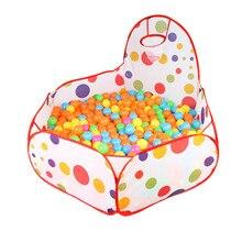 Детская игровая палатка, мяч, бассейн с Баскетбольным кольцом, красная сумка для хранения на молнии для малышей, детские домашние животные, манеж, без шаров