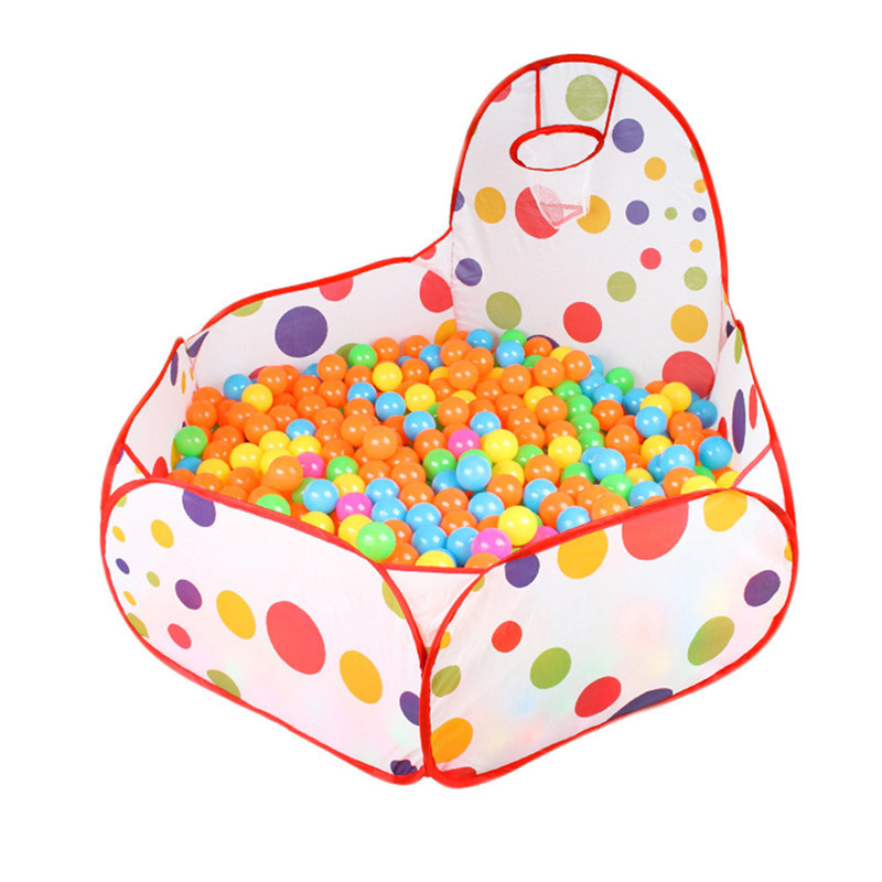 Kids Play Tent Ball Pit Pool With Basketball Hoop Red Zippered Zippered Storage Bag For Toddlers Baby Pets Playpen NO BALLs Hot