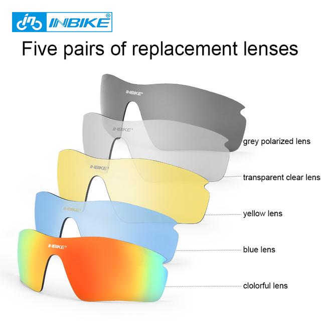 INBIKE Polarized Cycling Glasses Bicycle Sunglasses Bike Glasses Eyewear Ocular Eyeglass Goggles Spectacles UV Proof ciclismo