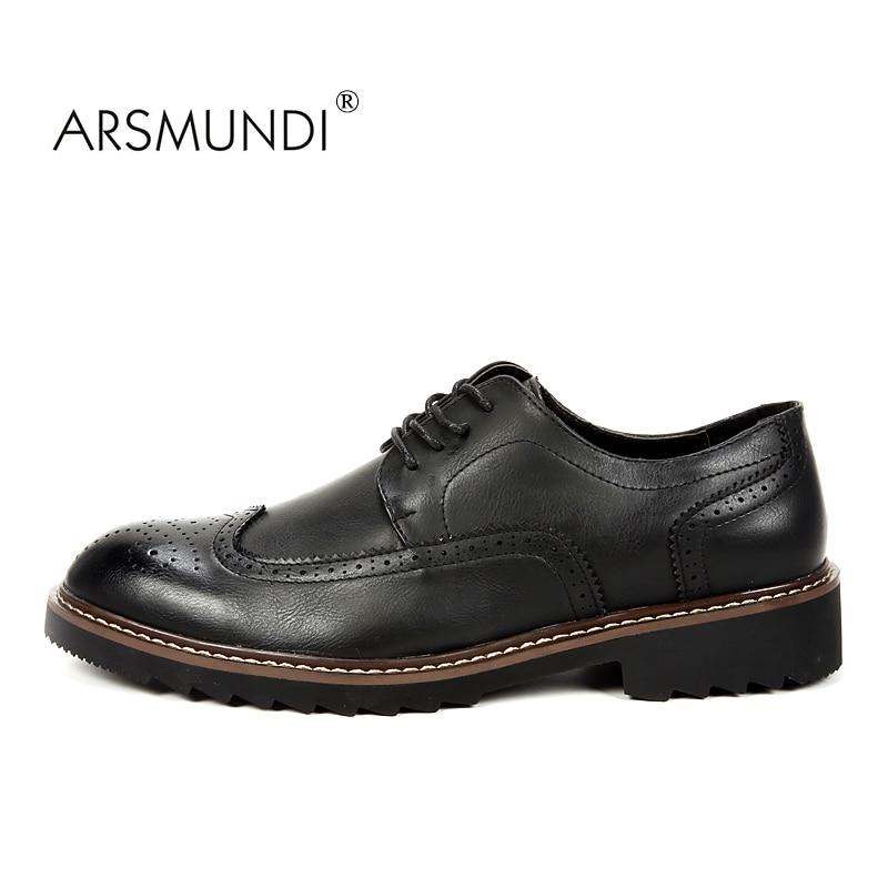 ARSMUNDI Original Män Casual Shoes Fall 2017 Svart Mode Skor Andas - Herrskor