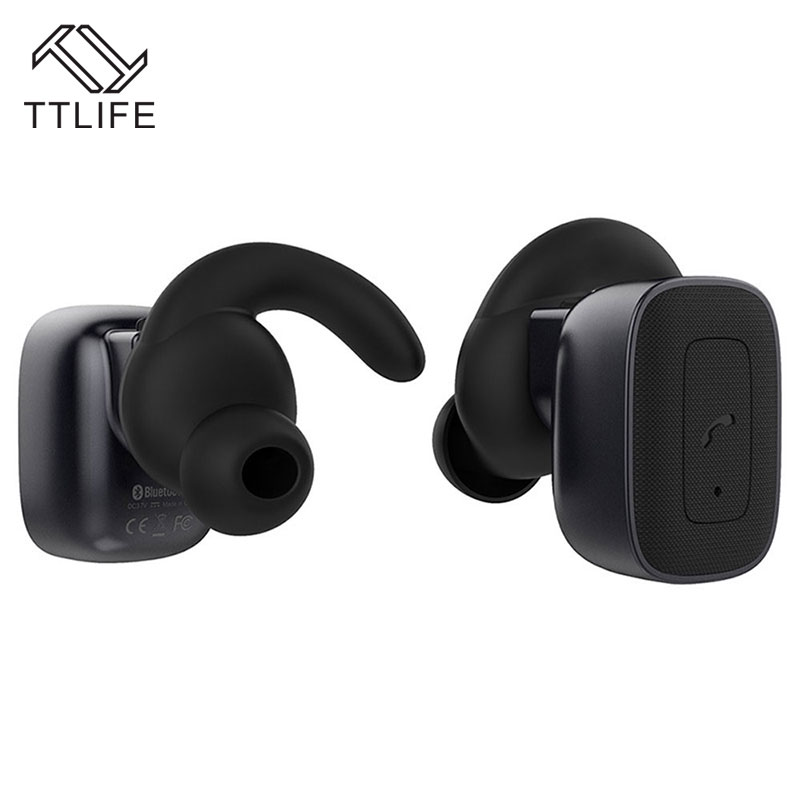 ФОТО TTLIFE Bluetooth 4.1 Earphones Stereo Noise Cancelling True Wireless Headphones Sports Sweatproof Earphones With Mic for xiaomi