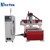 Cast Iron mini atc engraving cnc router machine 6090 for wood/plywood engraving/milling with 24 pcs tools AccTek manufacture