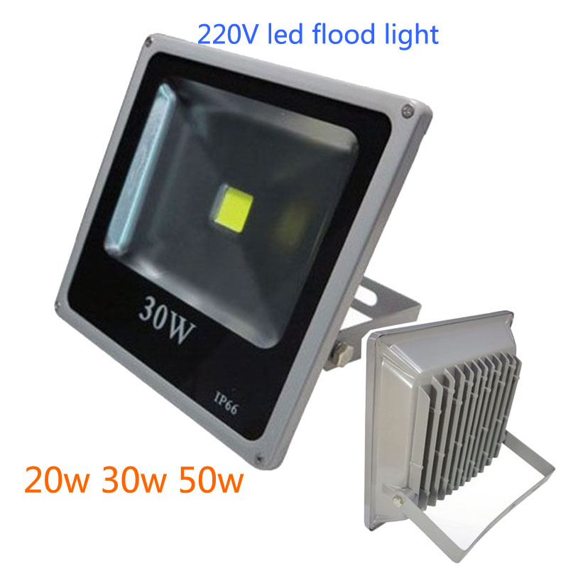 Ultrathin 20w 30w 50w 100w IP65 Dimmable Driverless LED Flood Light Floodlight LED street Lamp luminaire led light Free Shipping цена и фото