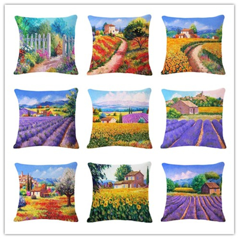 Christmas Xmas Linen Cushion Cover Throw Pillow Case Home: Fashion Pillows Decorate Home Cotton Linen Sofa Pillow