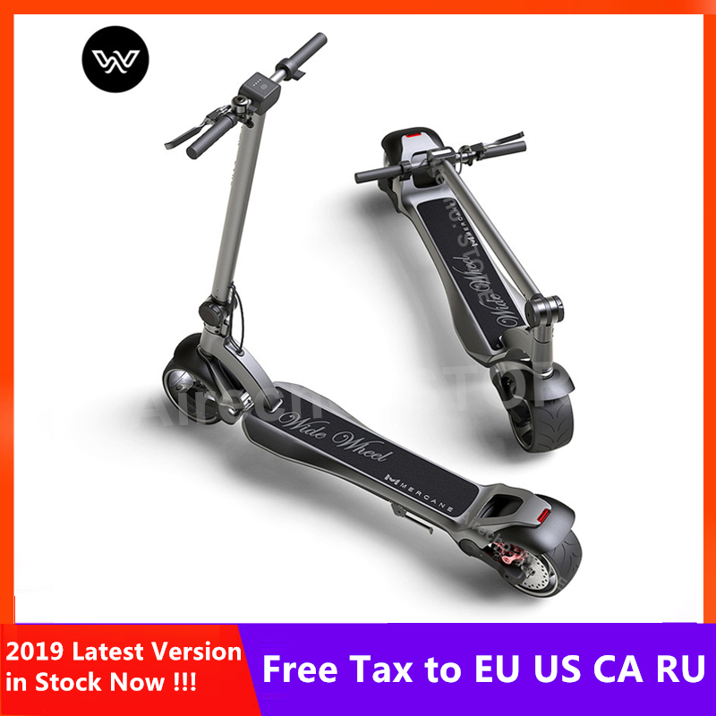 2019 plus récent Mercane WideWheel 48 V 500 W/1000 W Smart électrique Kick Scooter pliable large roue 45 KM/H double moteur Hoverboard