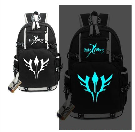 Anime fate stay night backpacks for teenage unisex large capacity USB charge backpack unisex luminous BackpackAnime fate stay night backpacks for teenage unisex large capacity USB charge backpack unisex luminous Backpack