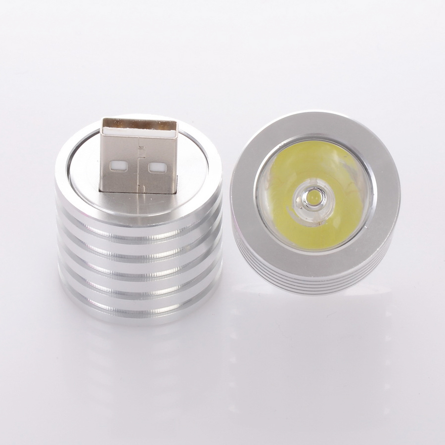 SXZM Mini Portabale Aluminum 2W USB Led Light Portable Night Light 27mm Portable Flashlight  For PC Computer Power Bank Lamp