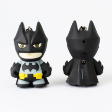 Cool Batman keychains Led key chain with sound figure keyrings