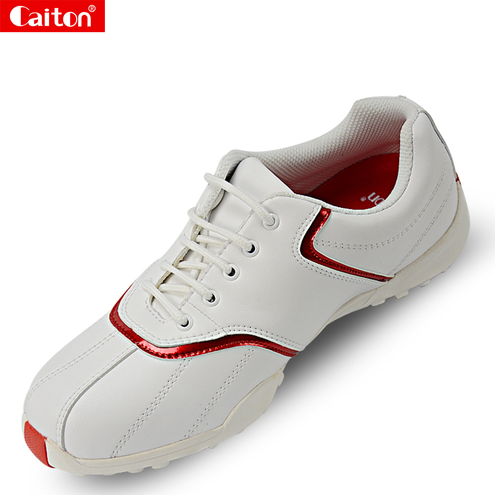 Caiton Women's golf shoes sports shoes Super fiber comfortable wear waterproof sneakers simulation mini golf course display toy set with golf club ball flag