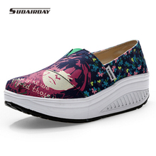 2016 New Canvas Shoes font b Woman b font Flat Platform Casual Shoes font b Women