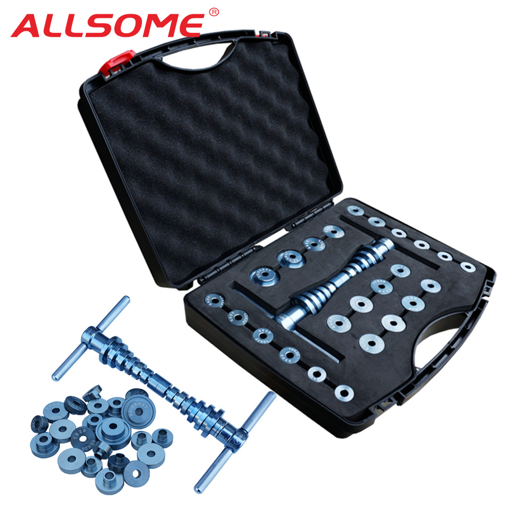 ALLSOME Bicycle Bottom Bracket Hub Bike BB Axis Bearing Removal Press Installation Tool Kit Set Hand