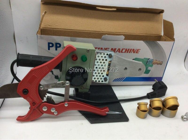 Temperatur gesteuert PPR Schweißgerät, kunststoffrohr-schweißmaschine mit einem ppr cutter AC 220 V 600 Watt 20-32mm