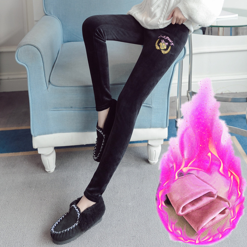 Fashion Plus Velvet Maternity Legging for Pregnant Women Winter Warm Pregnancy Clothes Fashion Sknny Maternity Pants