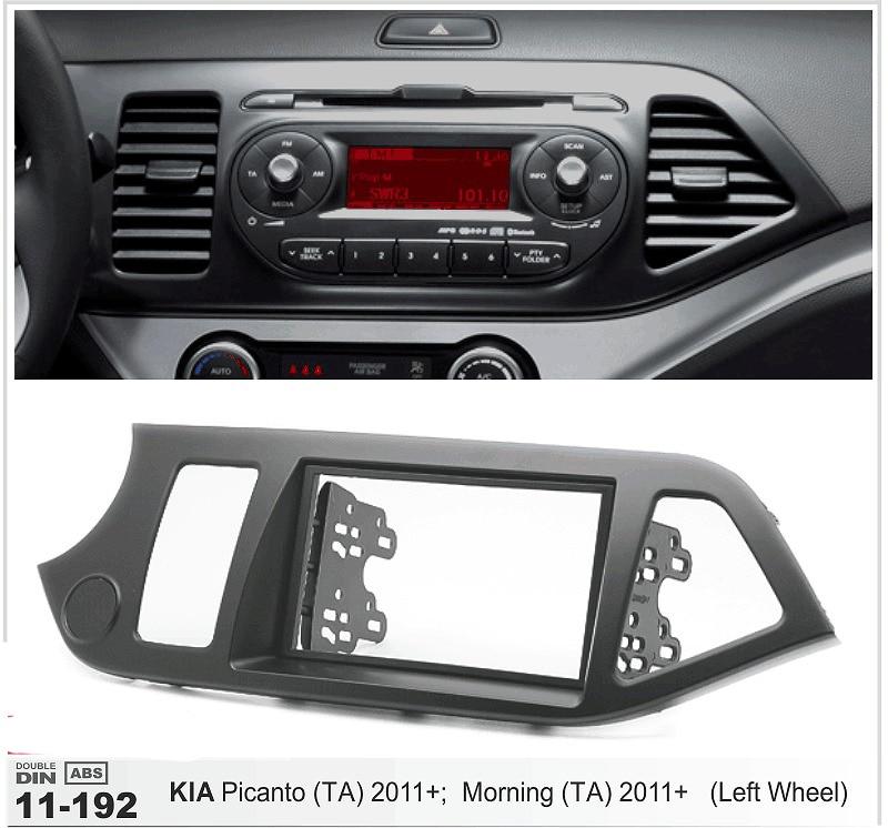 ФОТО 11-192 Car Radio Fascia for KIA Picanto (TA), Morning (TA)(Left wheel) Stereo Dash Facia Trim Surround CD Installation Kit