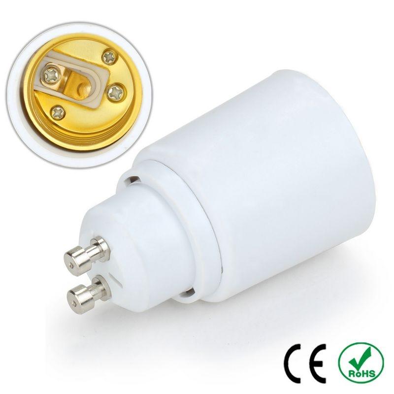 100pcs GU10 to E27 E26 Adapter Lamp Holder Converter Lamp Base Socket Fireproof PBT Copper LED Light Bulb Holder Extender Plug