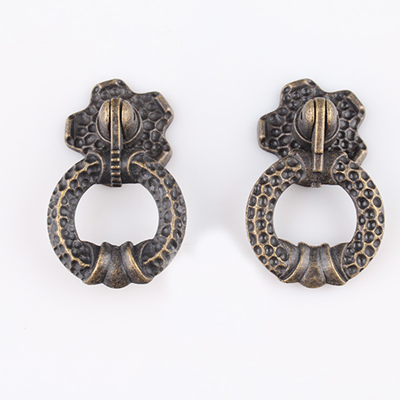 10PCS/Lot Furniture Handle Antique Vintage Cabinet Pulls And Knobs Small Drawer  Knobs Jewelry Box