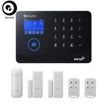 DIGOO DG-HOSA 3G 433MHz Wireless Black GSM&WIFI DIY Smart Home Security Alarm Systems Kits Infrared Motion Sensor Door Magnetism
